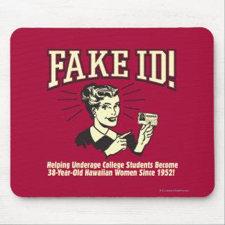 Fake ID: Underage College Hawaiian Mouse Pad