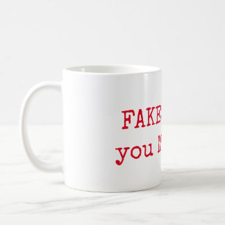 FAKE IT 'til you MAKE IT Inspirational Mug - Pink