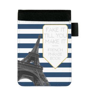 Fake it till you make it   Paris Eiffel Tower Mini Padfolio