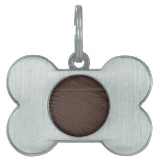 Fake Leather Design Pet Tag