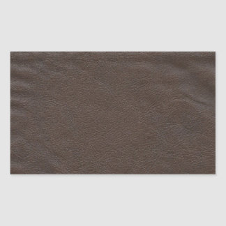 Fake Leather Design Rectangular Sticker