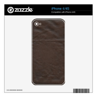 Fake Leather Design Skins For The iPhone 4