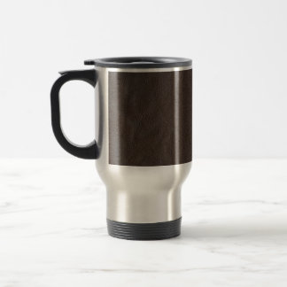 Fake Leather Design Travel Mug