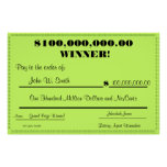Fake Lottery Check Huge Print