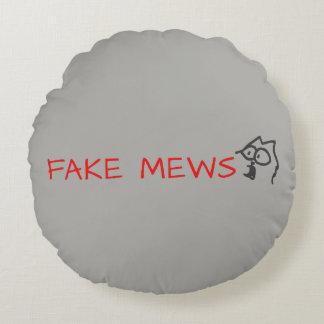 fake mews round pillow