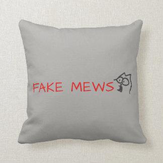 fake mews throw pillow