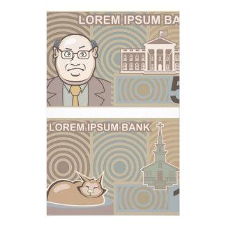 Fake money 50 and 10 stationery