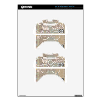 Fake money 50 and 10 xbox 360 controller decal