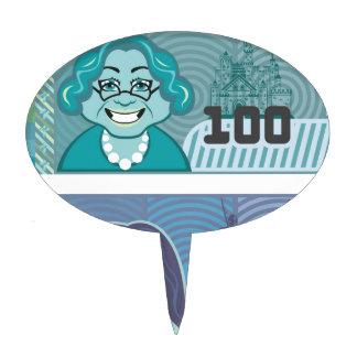 Fake Money Grandma 100 and Girl 20 vector Cake Topper