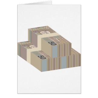 Fake money stacks card