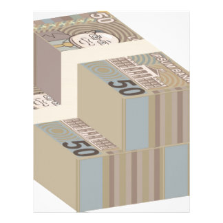 Fake money stacks letterhead