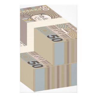 Fake money stacks stationery
