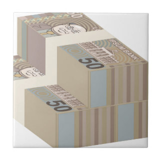 Fake money stacks tile