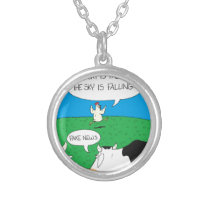 Fake Moos Zazzle Silver Plated Necklace