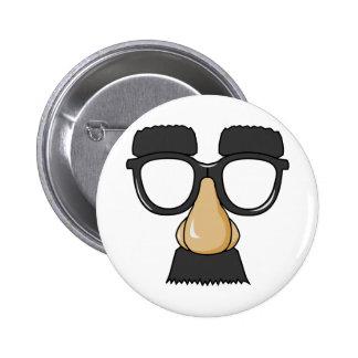 Fake Moustache Face Button