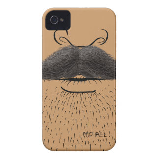 Fake Mustache Funny iPhone 4 Case