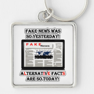 Fake News & Alternative Facts Premium Sq Keychain