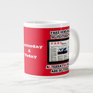 Fake News and Alternative Facts Jumbo Mug