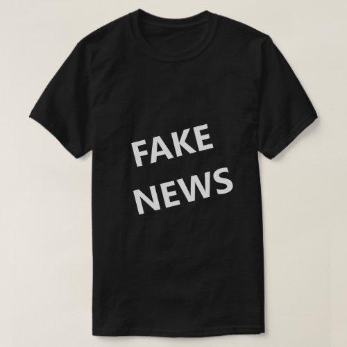 Fake News Bold Angled Funny Shirt