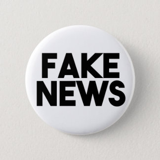 Fake News fashionable Post Truth Pinback Button