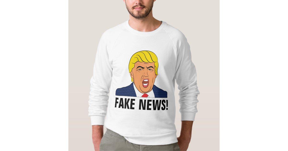 Fake News Funny Trump T Shirts Zazzle Com