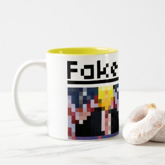 Fake News Header News Article Two-Tone Coffee Mug