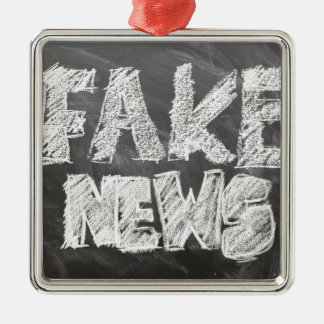 Fake News Metal Ornament