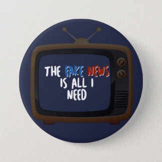 Fake News Political Protest Funny Button