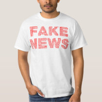 Fake News Red Style T Shirt
