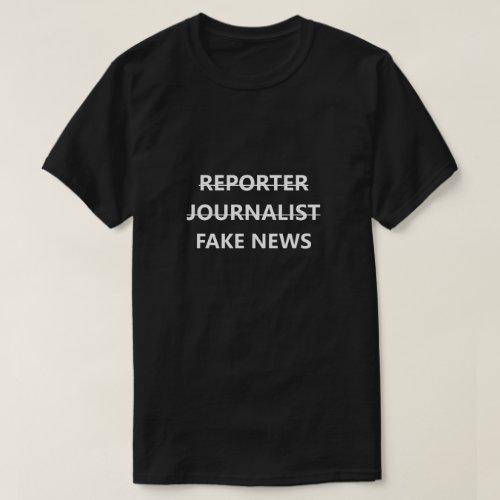 Fake News Reporter Journalist Funny Shirt