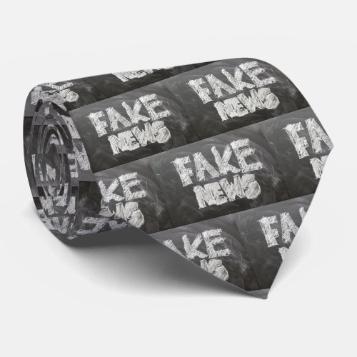 Fake News USA Politics Necktie