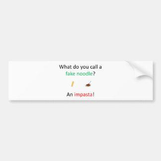 Fake Noodle Joke Bumper Sticker