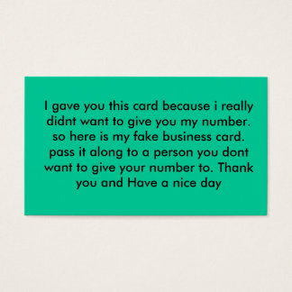 Fake out Card