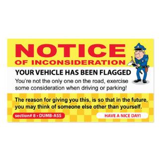 Fake Parking Ticket Prank Business Card