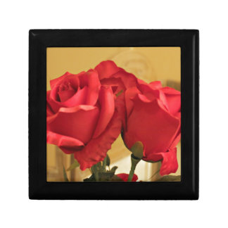 Fake plastic roses keepsake box