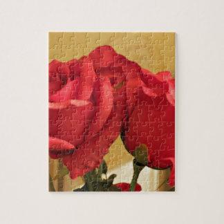 Fake plastic roses jigsaw puzzle
