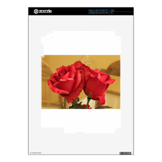 Fake plastic roses decal for the iPad 2