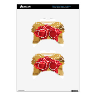 Fake plastic roses xbox 360 controller skins