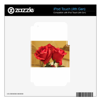 Fake plastic roses iPod touch 4G skins