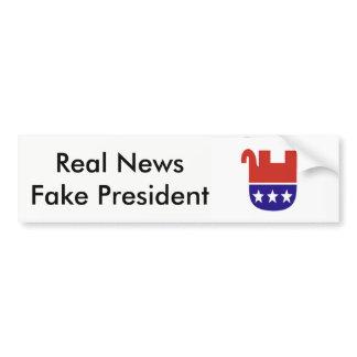 Fake President (Trump) Bumper Sticker