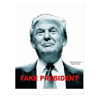 Fake President (Trump) Postcard