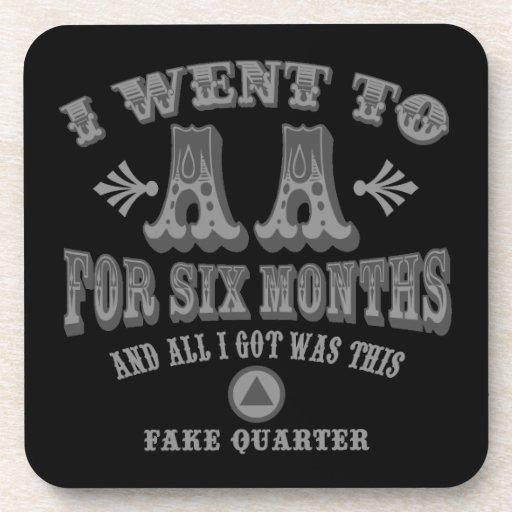 Fake Quarters Drink Coasters
