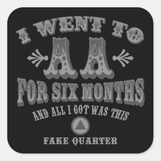 Fake Quarters Square Sticker