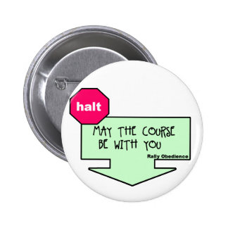 Fake Rally Sign Pinback Button