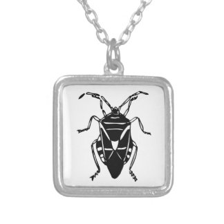 Fake Roach Square Pendant Necklace
