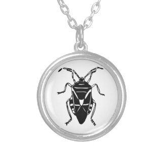 Fake Roach Round Pendant Necklace