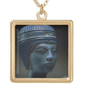 Fake royal head, originally thought to be Tutankha Gold Plated Necklace