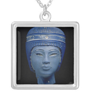 Fake royal head silver plated necklace