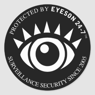 FAKE SECURITY STICKERS