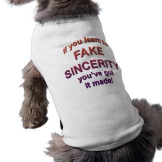 fake sincerity doggie tshirt